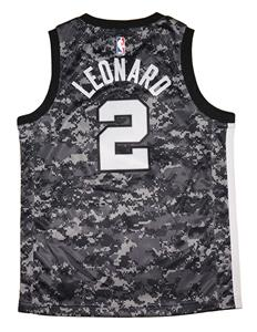 a03a9ba4483 Youth Nike Kawhi Leonard San Antonio Spurs Camo Swingman Jersey - City  Edition