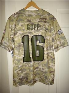 Youth Nike Jared Goff  16 LA Rams 2018 Version Salute to Service Game Jersey 13cf54dc3