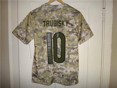84113d309 Youth Nike Mitch Trubisky  10 Bears 2018 Version Salute to Service Game  Jersey M (10 12)