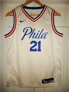 Youth Nike Joel Embiid  21 Philadelphia 76ers Cream City Edition Swingman  Jersey 552c8841b