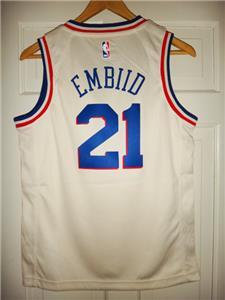 2eca0f1a346 Youth Nike Joel Embiid  21 Philadelphia 76ers Cream City Edition Swingman  Jersey