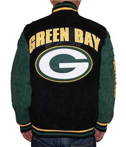 18f52898 Details about NWT Green Bay Packers NFL Men's Zipper Front Suede Jacket