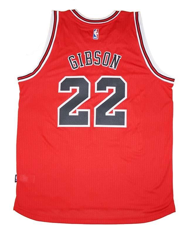 3ceb23a1c Details about Adidas Chicago Bulls  22 Taj Gibson Men s Red Swingman Jersey  - XL