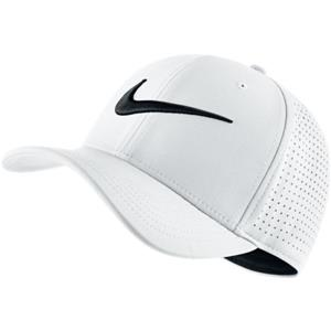 a598c1c0 Nike Adult Unisex Vapor Classic 99 Swoosh Flex Fitted Hat 803933-100 White.  Click images to enlarge