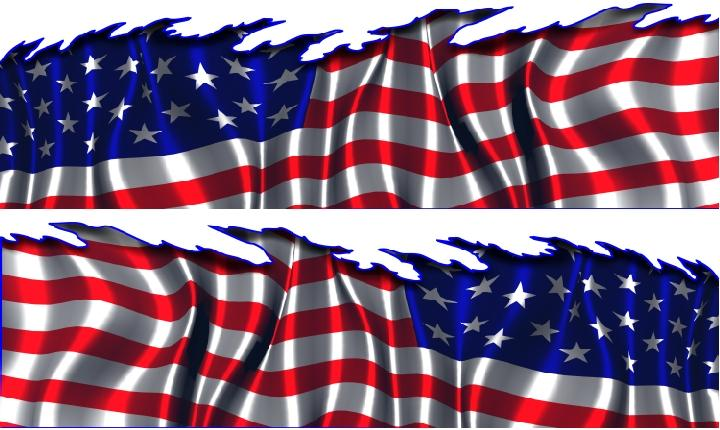 American Flag Auto Vinyl Graphic Car Truck Graphics Suv Ebay