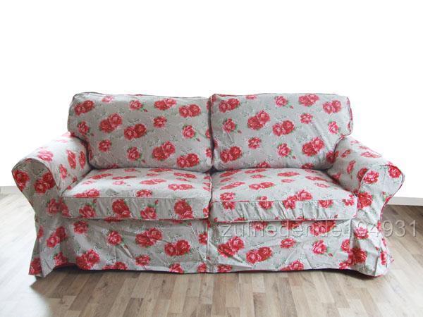 sofabezug ikea ektorp 2er schlafsofa rosen sofabett ebay. Black Bedroom Furniture Sets. Home Design Ideas
