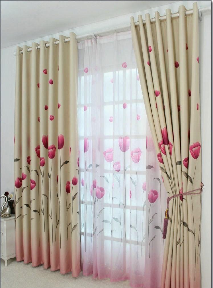 gardinen vorh nge bergardinen dekogardinen sen tulip 280x500 ebay. Black Bedroom Furniture Sets. Home Design Ideas