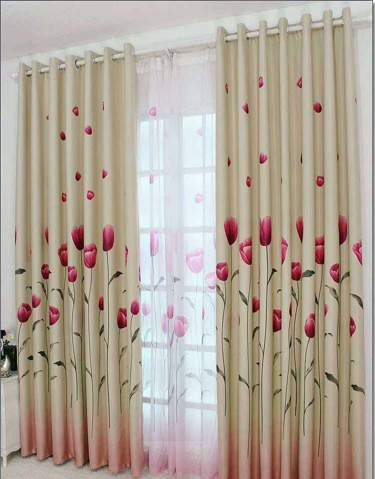 gardinen vorh nge bergardinen dekogardinen sen tulip 280x500 ebay. Black Bedroom Furniture Sets. Home Design Ideas