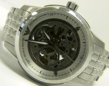 Emporio Armani Meccanico Stainless Steel Watch AR4626