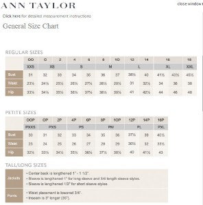 Ann taylor blouse size chart best blouse design 2018