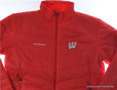 Columbia Mens Wisconsin Badgers Collegiate Ascender Softshell Jacket S-M-L-XL