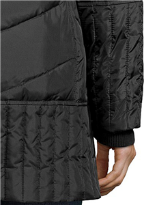 SAM EDELMAN Black Down Jacket Women/'s XS-S-M Chevron Quilted /'Kate/' Hooded Coat