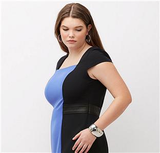 LANE BRYANT Infinite Stretch Colorblock Dress Womens Plus sizes 16 20 24 26