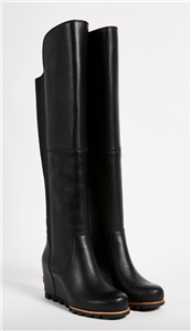 307633b196c Sorel Womens size 5 Fiona OTK Boot Black Leather Over The Knee Tall ...