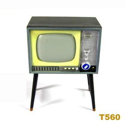 Dollhouse Miniature Classical Monochrome Television TV Fridge Magnet Toy