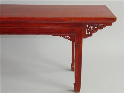 This Is An Antique Chinese Red Lacquer Long Bench Dating From Around 1870 The Has A Good Deep Colour And Nice Patina To Solid Timber Frame