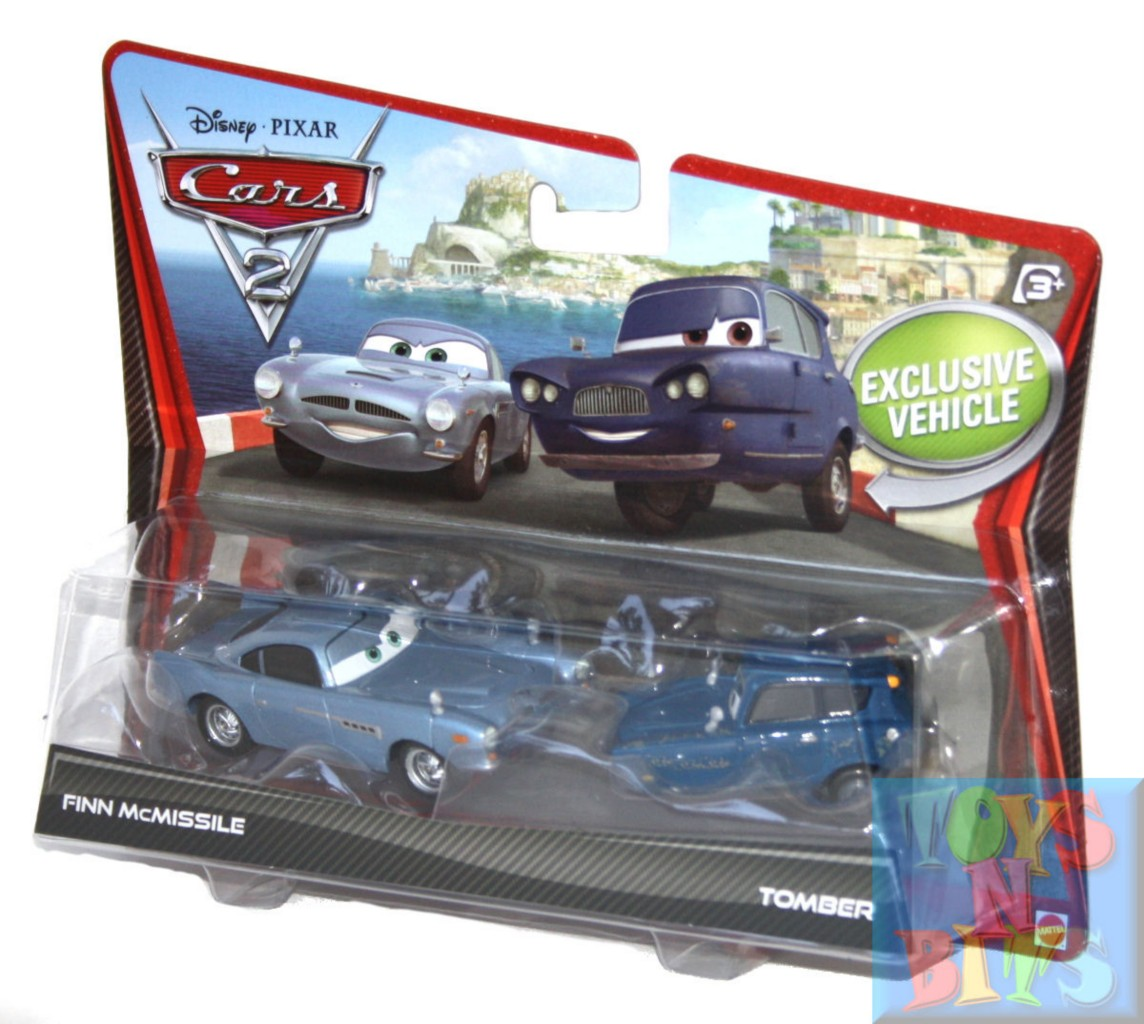 Finn Mcmissile Cars 2: Disney Cars 2 Finn McMissile Tomber Diecast Car 2 Pack