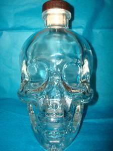 Dan Aykroyd Crystal Head Skull Face Vodka Bottle Decanter -empty 750ml w/ Label   eBay