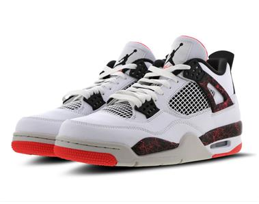 48311100e69 Nike Air Jordan 4 Retro IV White Hot Lava Bright Crimson Black Mens 308497  116