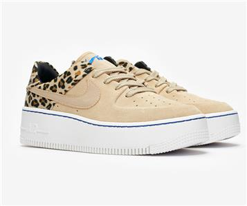 low priced 187fa ec32f Nike Air Force 1 Sage Lo Premium Leopard Desert Ore Beige Black Women  BV1979 200