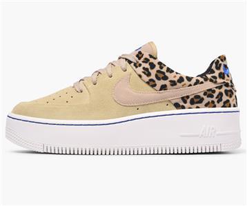 36e98e648dd9 Nike Air Force 1 Sage Lo Premium Leopard Desert Ore Beige Black Women  BV1979 200