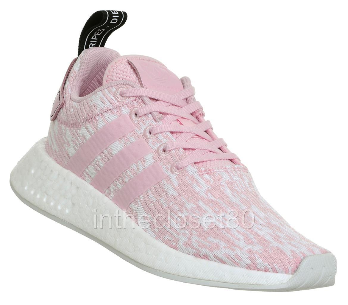 Women Adidas Boost NMD R2 Wonder Pink BY9315 Knit Running Shoes Sz 8.5