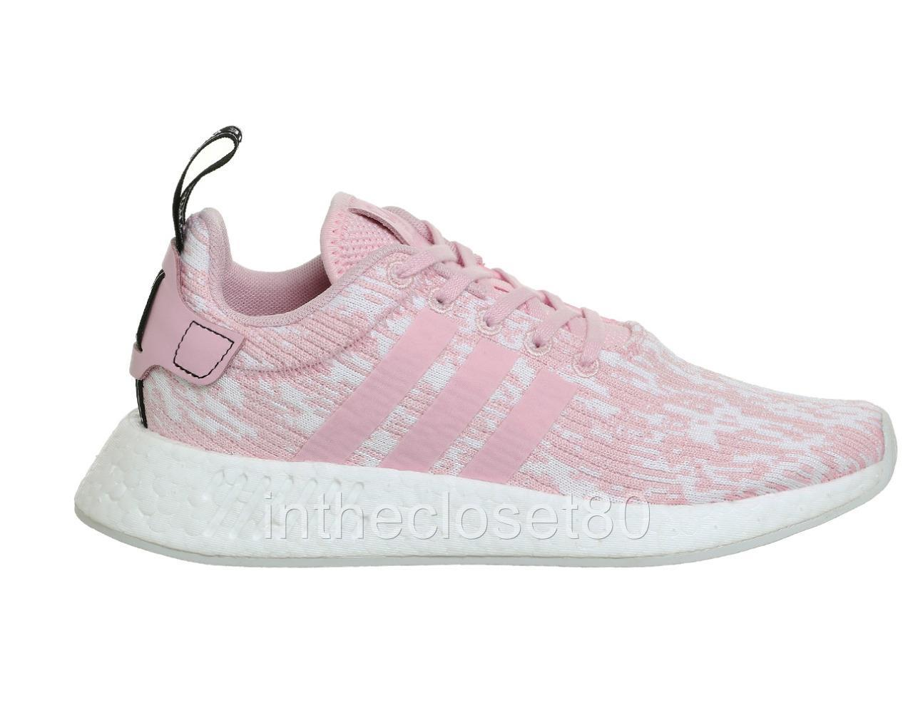 Adidas NMD R2 Wonder Pink Black PrimeKnit Womens Boost Trainers BY9315