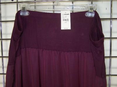 fce3db25d3e NWT Lane Bryant PLUS SIZE Mixed Fabric Long Pull On PURPLE Knit Maxi ...