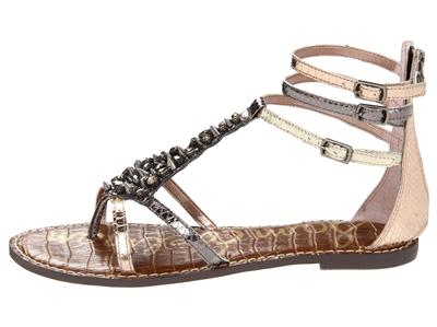 Sam Edelman Sandals Womens Gladiator Leather Rhinestone
