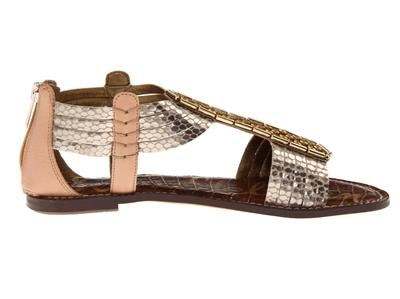 85bcbf3aed35 SAM EDELMAN WOMENS SANDALS GLADIATIOR LEATHER GATSBY STUDED GOLD ...