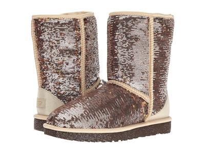 UGG Classic Short Sparkles Boots Color: Champagne