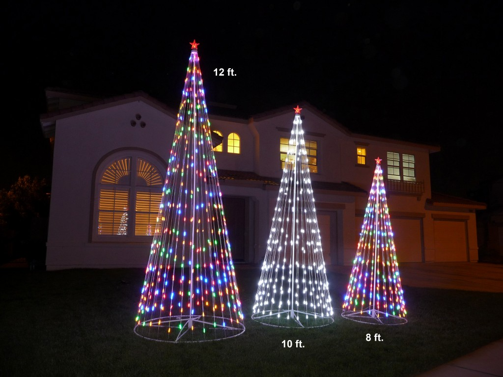 "NEW 144"" Prelit Multi-Color LED Christmas Tree Outdoor"