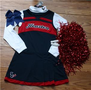Houston Texans Girls Baby Toddler Cheerleader Outfit