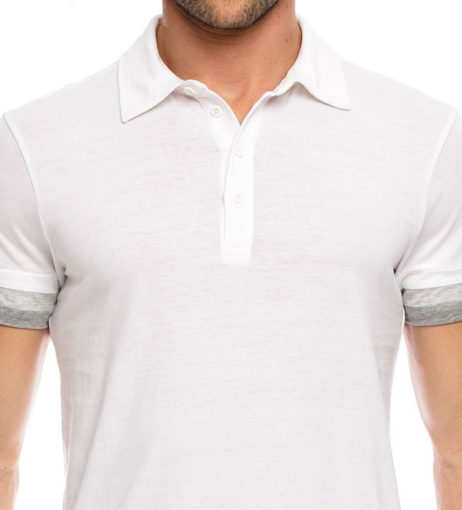 9cc3dc17a Image is loading Armani-Exchange-Layer-Sleeve-Polo-Shirt-White-NWT