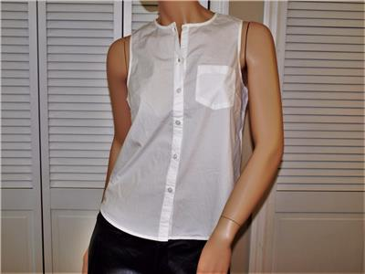 4791d37b047c72 Details about Armani Exchange Poplin Sleeveless Stretch Shirt White NWT  G5C932BR