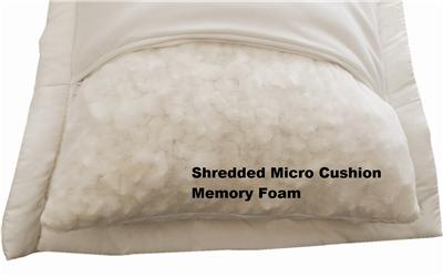 Queen Size Micro Shredded Memory Foam Bed Pillow Down