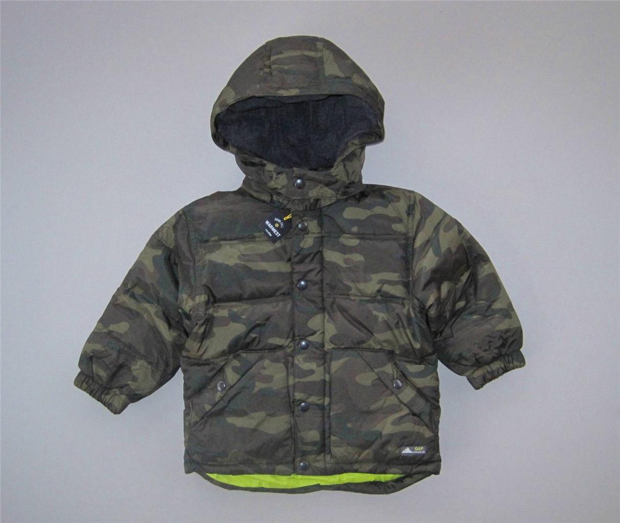 NWT Baby Gap Warmest Down Camo Puffer Jacket 2 3 4 5 2013