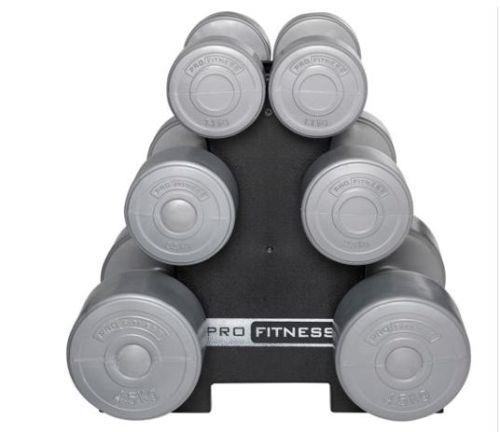 15kg Dumbbell Set: Pro Fitness 15kg Dumbbell Tree Set.