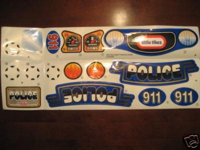 Little Tikes Police Car Stickers Uk