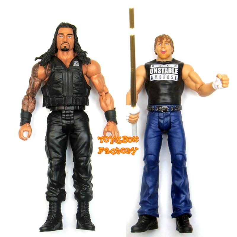 Details about Roman Reigns & Dean Ambrose Stick The Shield WWE Wrestling  Action Figure Kid Toy