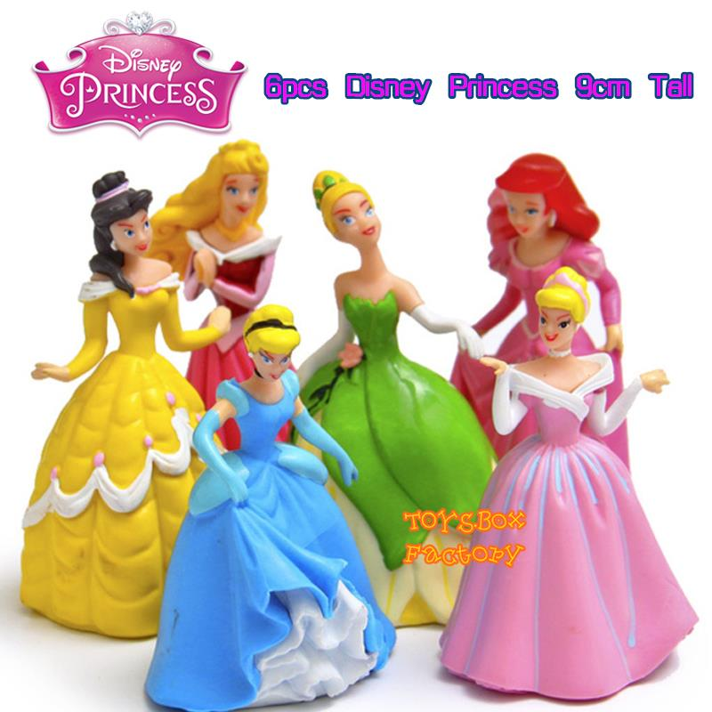 6x Disney Princess Cinderella Aurora Belle Ariel Doll Toy