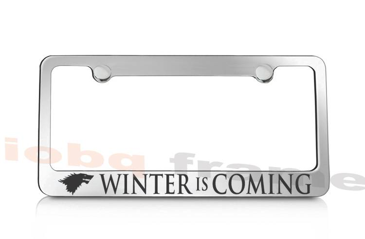 WINTER IS COMING GAME OF THRONES supreme license plate frame +Free ...